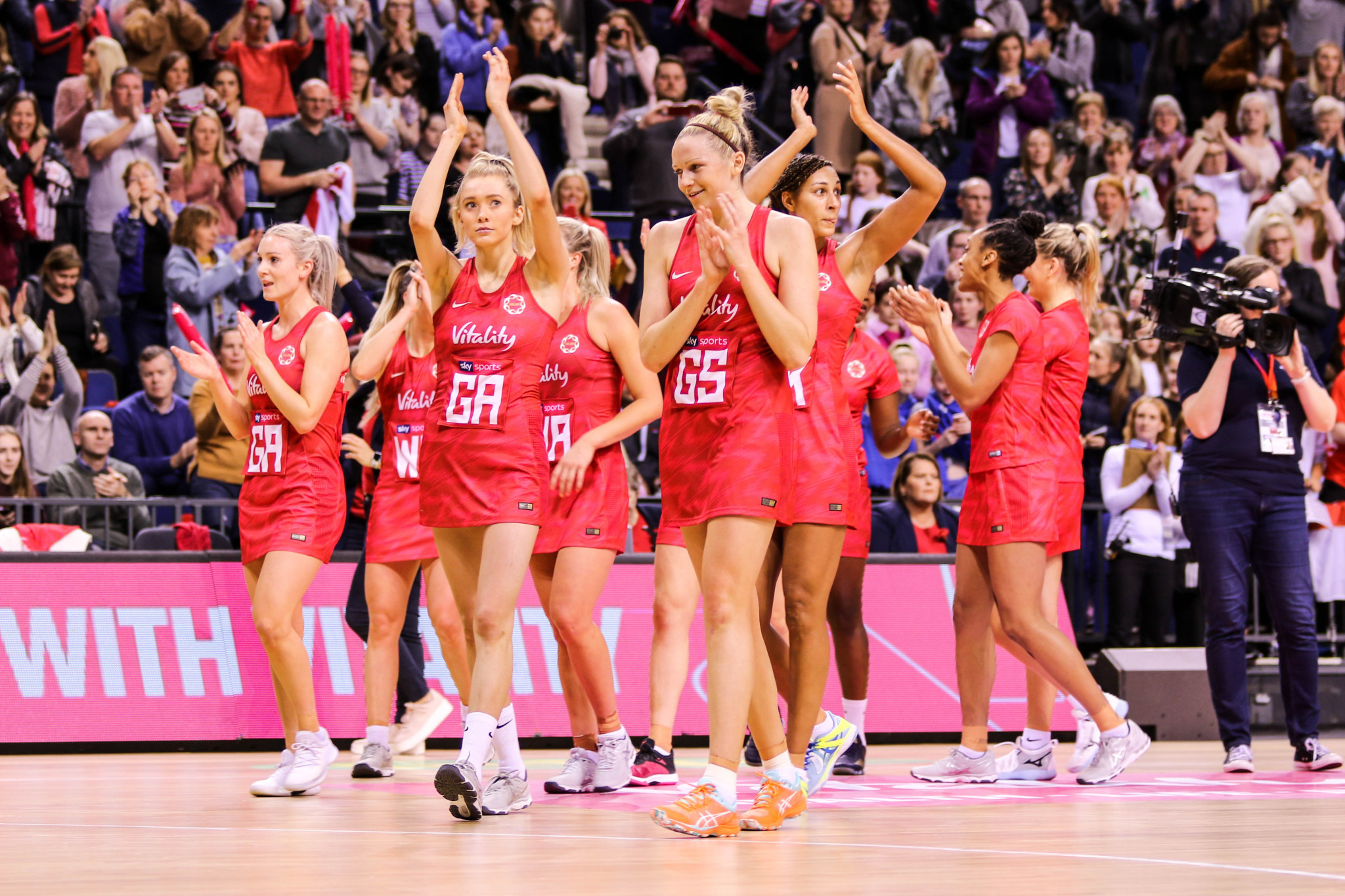 The Vitality Roses are preparing for the 2019 World Cup in Liverpool ©Eliza Morgan/England Netball