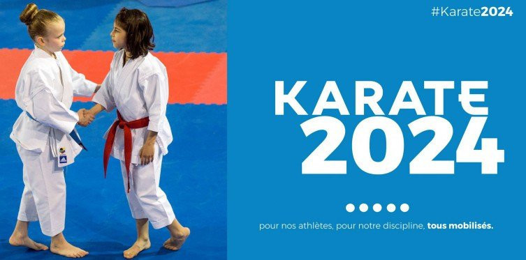 A campaign called #Karate2024 was launched in March to try to convince Paris 2024 to change its mind and add the sport to the Olympic programme ©FFK