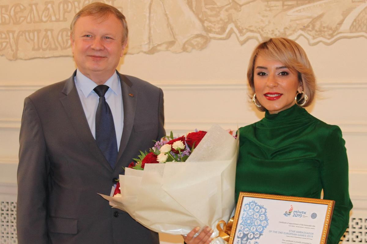 Azerbaijani singer and composer Tunzale Agaeva has become a star ambassador for the Minsk 2019 European Games ©Minsk 2019