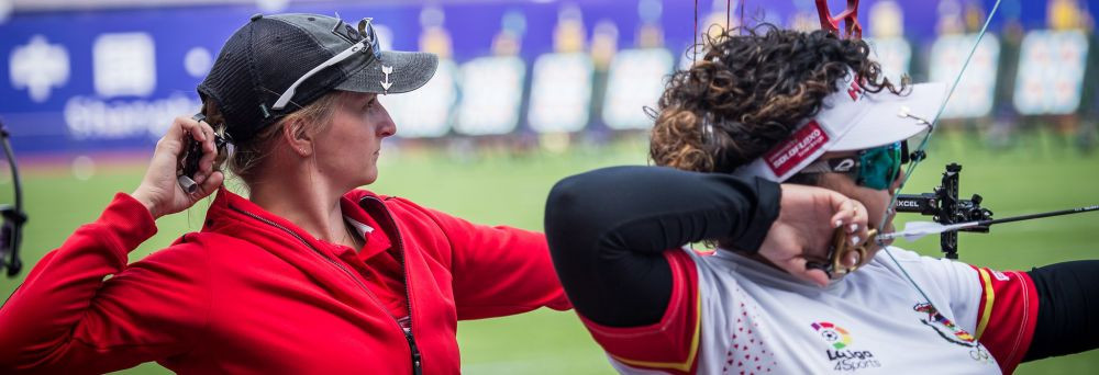 Denmark's Jensen posts personal best to top women's compound qualification standings at Archery World Cup
