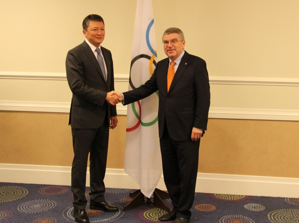 National Olympic Committee of Republic of Kazakhstan vows to continue growth following meeting with Bach