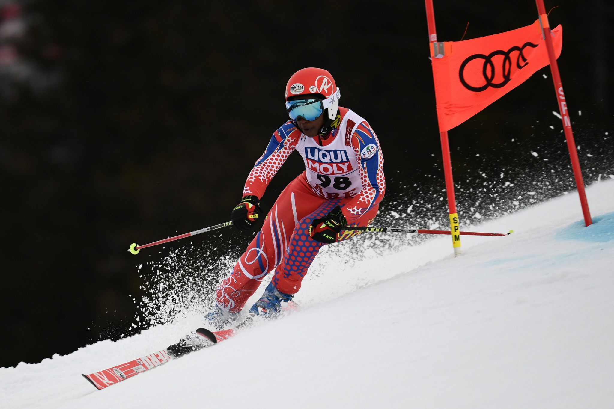 Celine Marti competed in the women's slalom event at February's FIS Alpine World Ski Championships in Åre in Sweden, finishing 52nd ©Getty Images