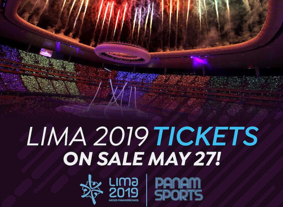 Tickets for Lima 2019 Pan American Games to go on sale on May 27