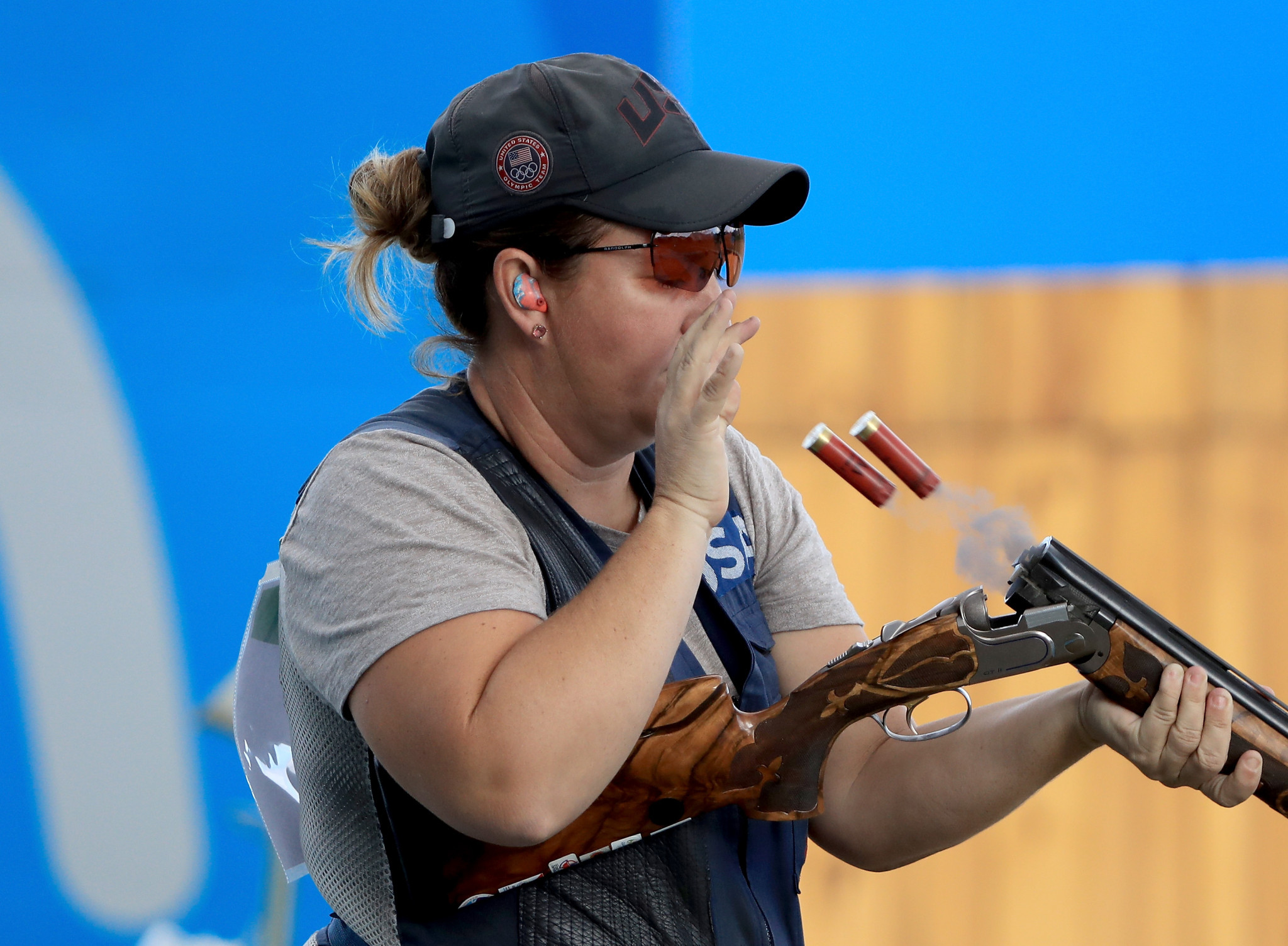 The United States' Kim Rhode will be aiming to defend her women's skeet title ©Getty Images