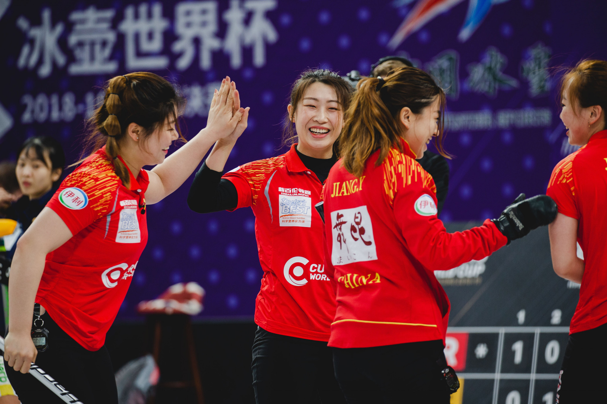 The hosts delighted the home crowd with a victory against the US at the Curling World Cup grand final in Beijing ©World Curling Federation