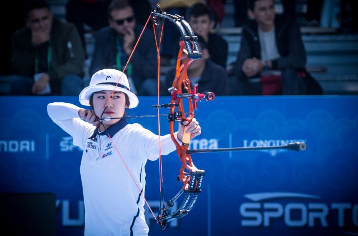 So Chae-won of South Korea won her compound women semi-final and will now meet Sophia Strachan of the United States ©Getty Images