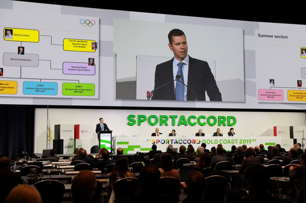 IOC sport director Kit McConnell provided an update on how they plan to adopt a scheme launched by the IJF to provide refugees with opportunities to take part in sport ©Twitter
