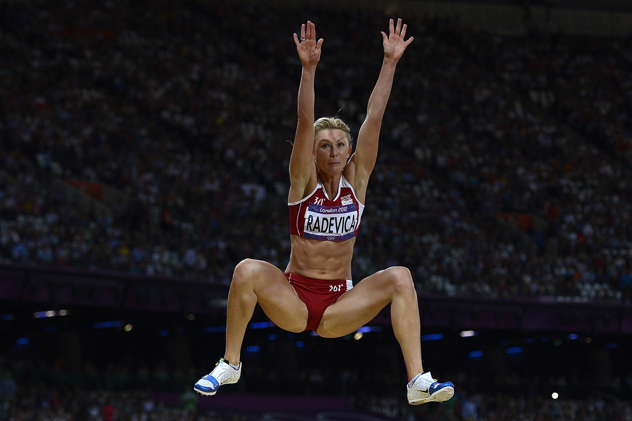 Latvian long jumper Ineta Radevica is one of latest two athletes to have been disqualified from the London 2012 Olympic Games following the retesting of her seven-year-old samples ©Getty Images