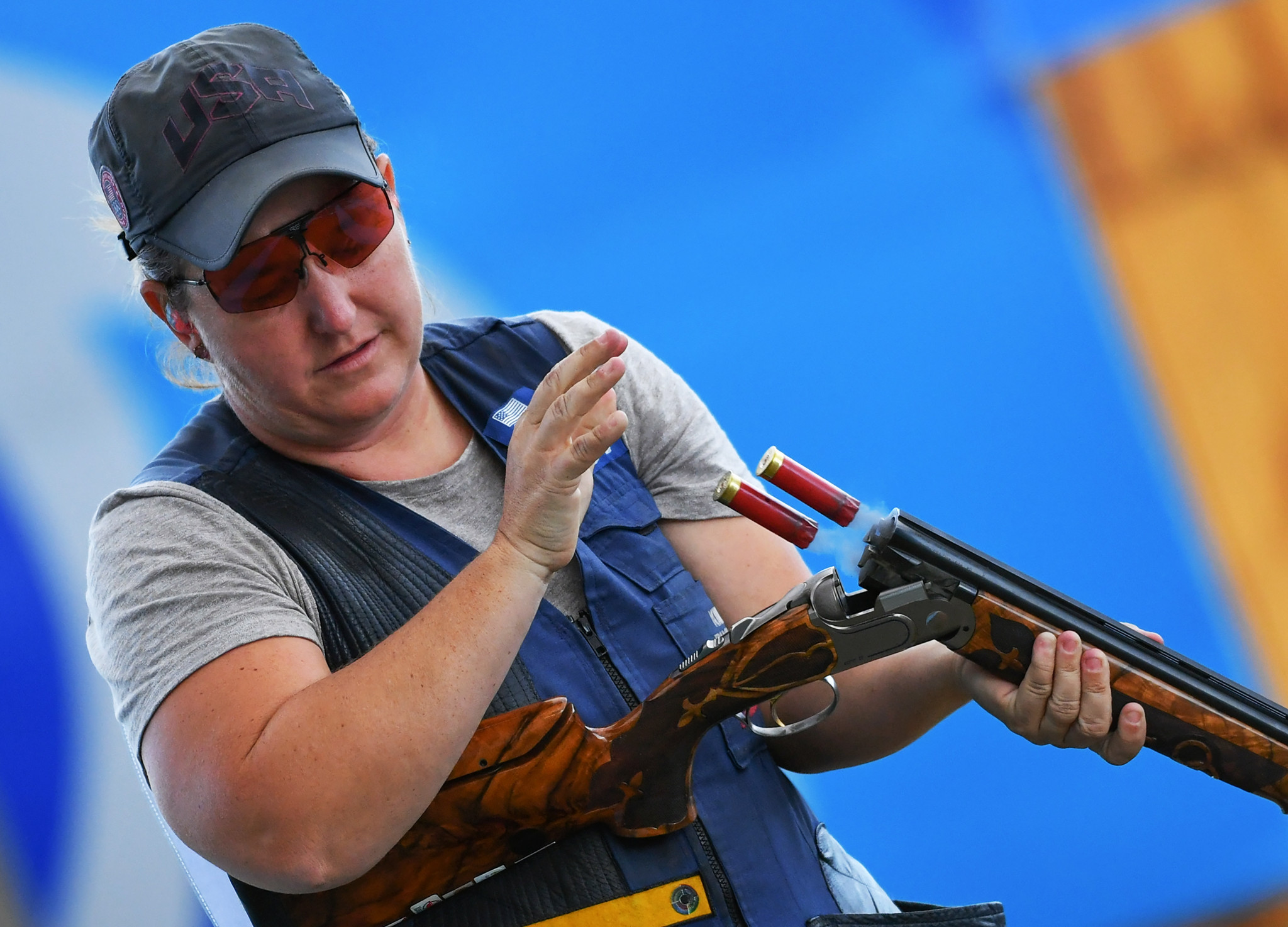 Kimberley Rhode won her third consecutive ISSF Shotgun World Cup women's skeet title in Changwon ©Getty Images