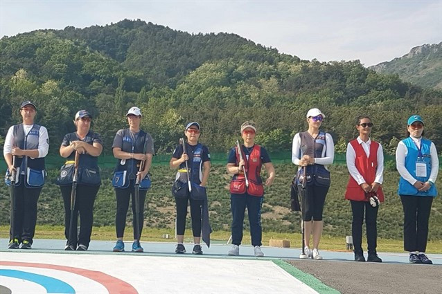 Kimberley Rhode proved the winner again in the women's skeet at the ISSF Shotgun World Cup in Changwon ©ISSF