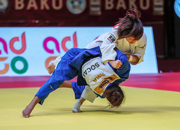 Olympic champion Silva beats world champion Yoshida to gold at IJF Baku Grand Slam
