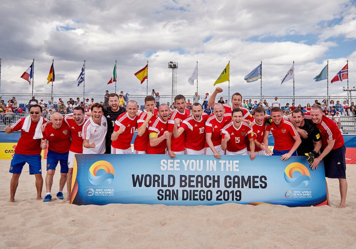 Russia are one of four countries to have earned a place in the men's beach soccer tournament at the 2019 ANOC World Beach Games in San Diego after reaching the semi-finals at the European qualifier in Salou ©Beach Soccer Worldwide/Twitter