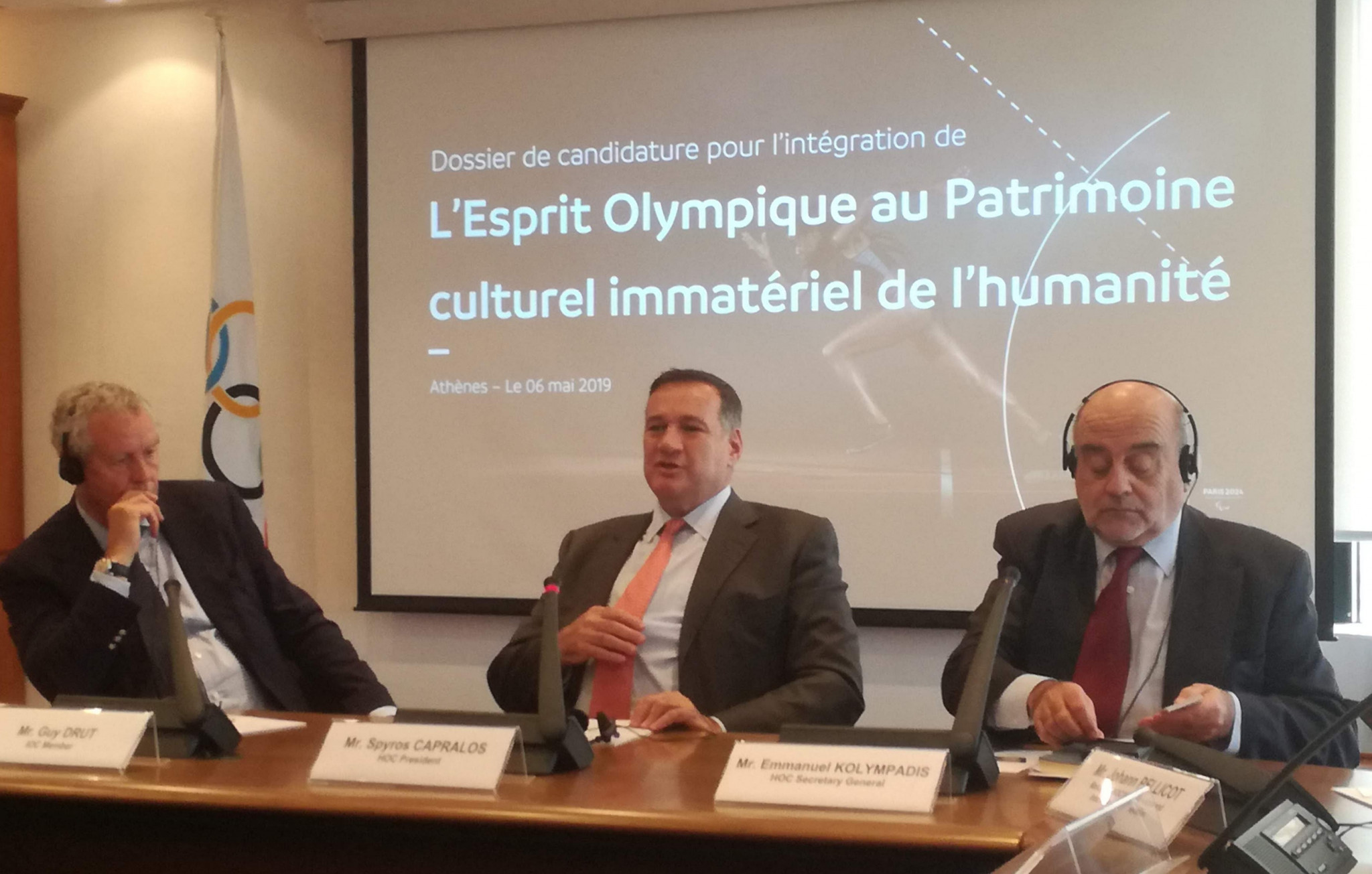 Hellenic Olympic Committee supports France in bid to include Olympic values on UNESCO World Heritage List
