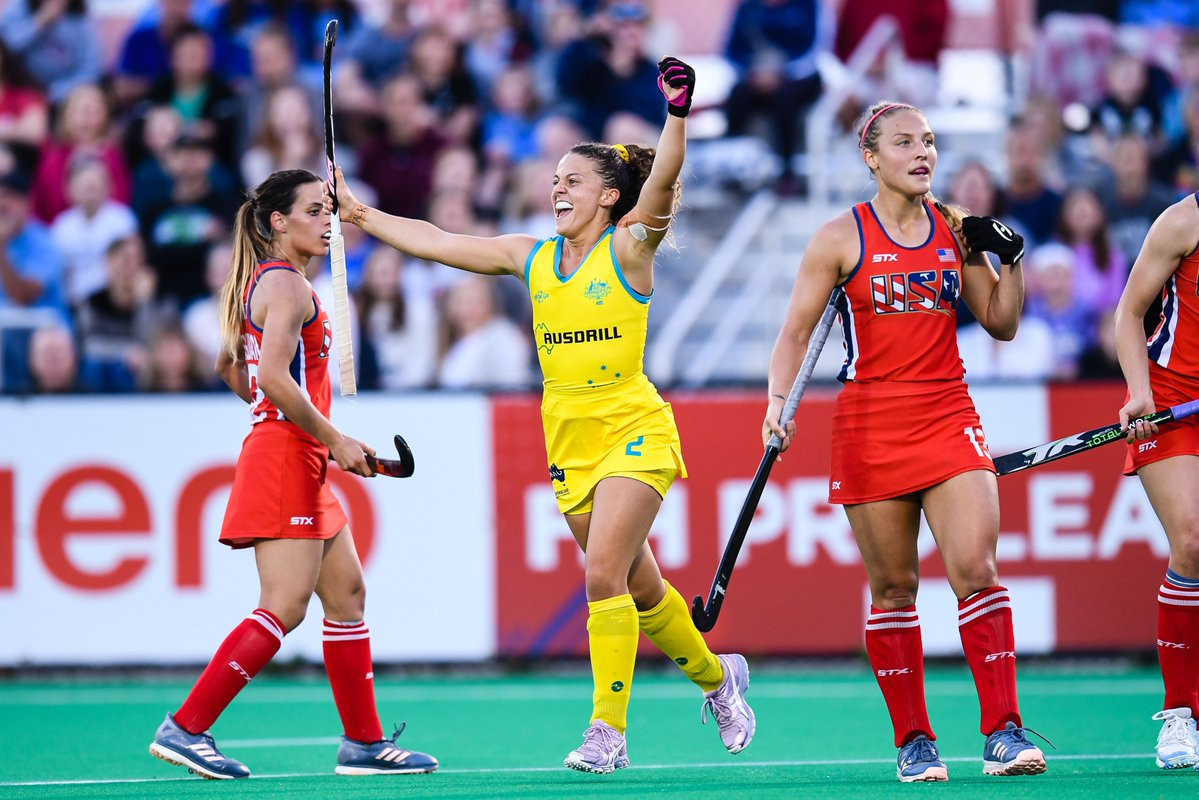Australia boost chances of top-four FIH Pro League finish with victory over US