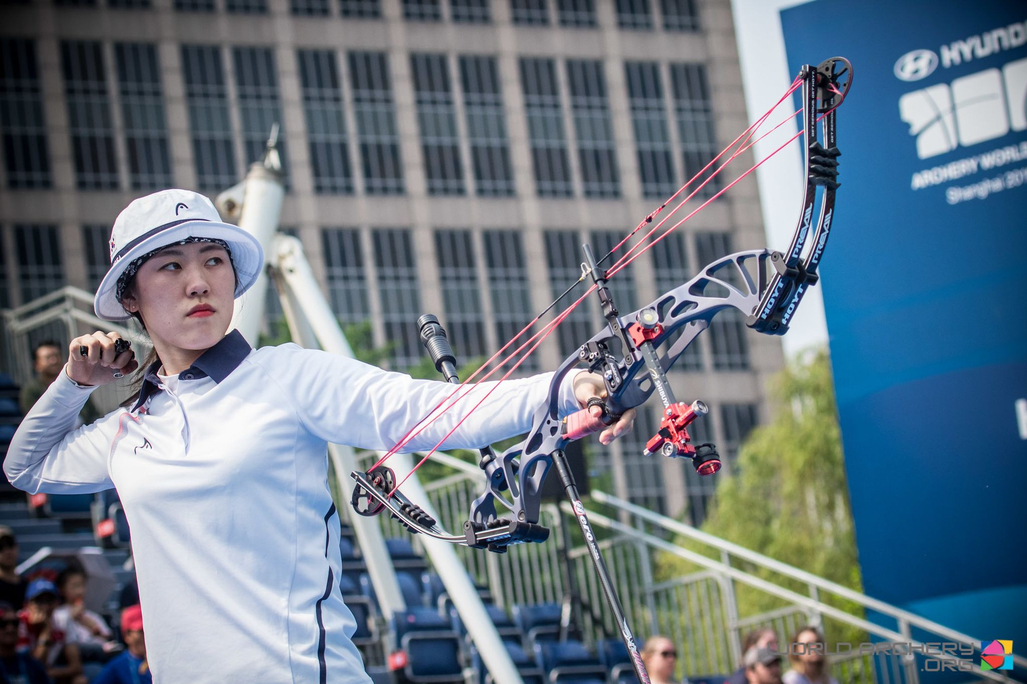 South Korea's 21-year-old So Chaewon had one chance to earn a place in the season's World Cup Final by winning her compound women final in Shanghai today, and she took it ©World Archery
