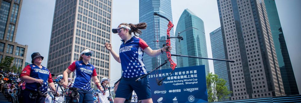 The United States secured a dramatic victory over South Korea in the compound women's team final after judges re-marked a shot following a tie-break ©World Archery