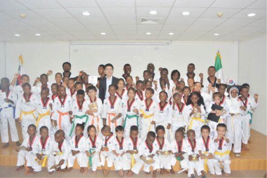 Seventy children graduated from NIgeria's Korean Cultural Centre taekwondo progamme ©Korean Cultural Centre