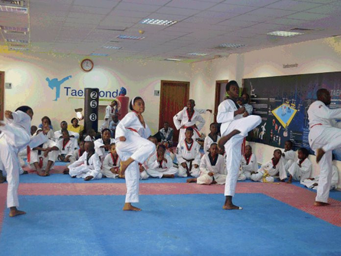 Participants in the under eight beginners, under eight coloured belt and over eight coloured belt categories graduated from the Korean Cultural Centre taekwondo ©Korean Cultural Centre