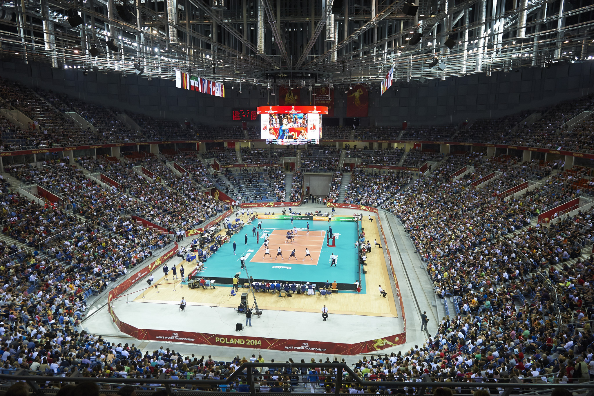 Kraków hosted the 2014 Men's Volleyball World Championship ©Getty Images