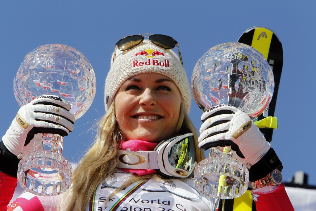 Vonn claimed the overall FIS Alpine Ski World Cup Super-G and downhill titles for the 2015 season ©Agence Zoom/Getty Images