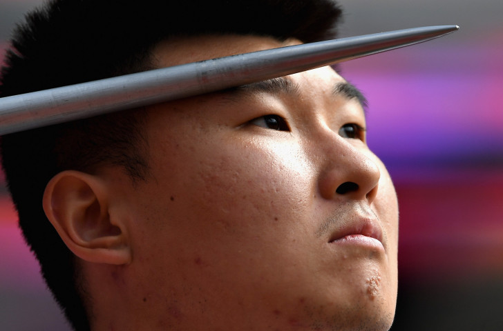 World champion Wang Yanzhang added the F34 javelin title to the versions he had won in the discus and shot the day before at the World Para Athletics Grand Prix in Beijing ©Getty Images