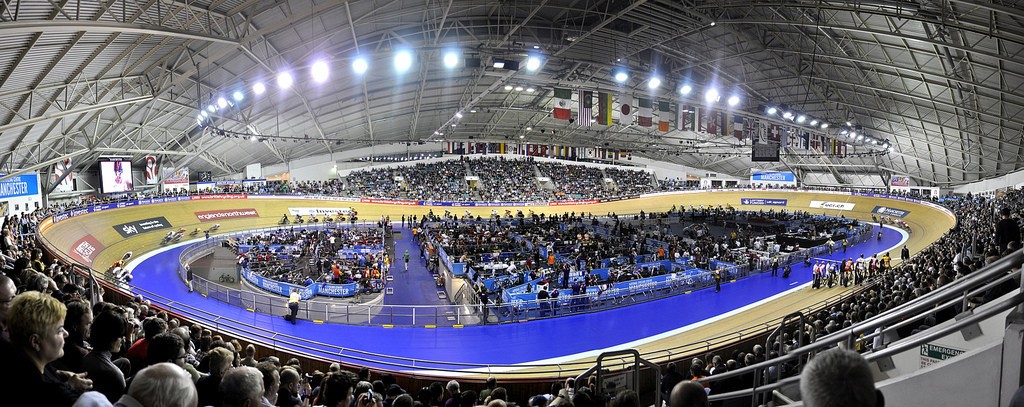 The Manchester Velodrome, built for the 2002 Commonwealth Games, is now part of the National Cycling Centre ©Wikipedia