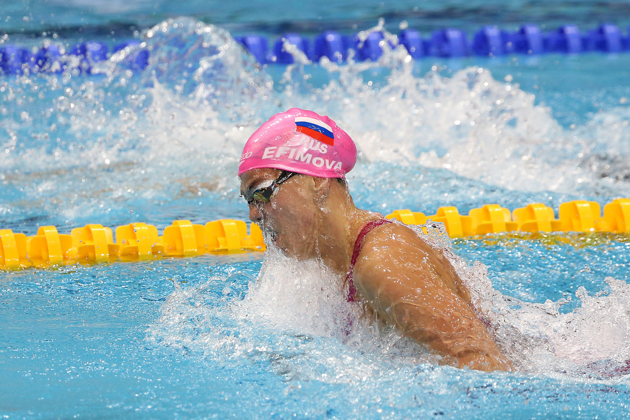 Yuliya Efimova set two world-leading times as she made her Champions Swim Series debut ©Getty Images