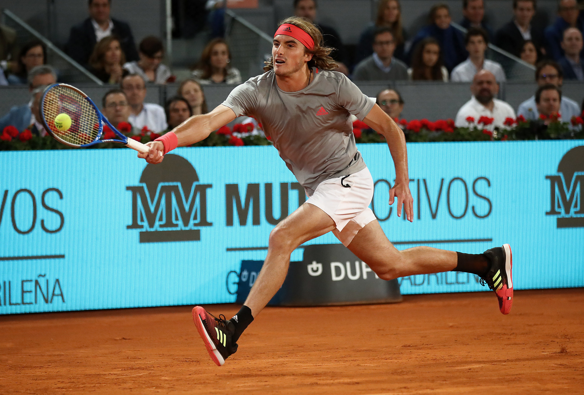 Greece's Stefanos Tsitsipas will play Serbian world number one Novak Djokovic in the Madrid Open final ©Getty Images