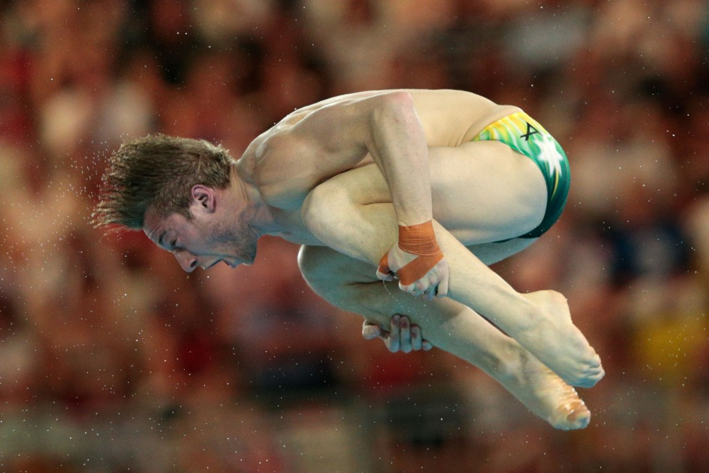 Olympic champion Matthew Mitcham was unable to secure a podium spot in the men's 3 metres springboard competition