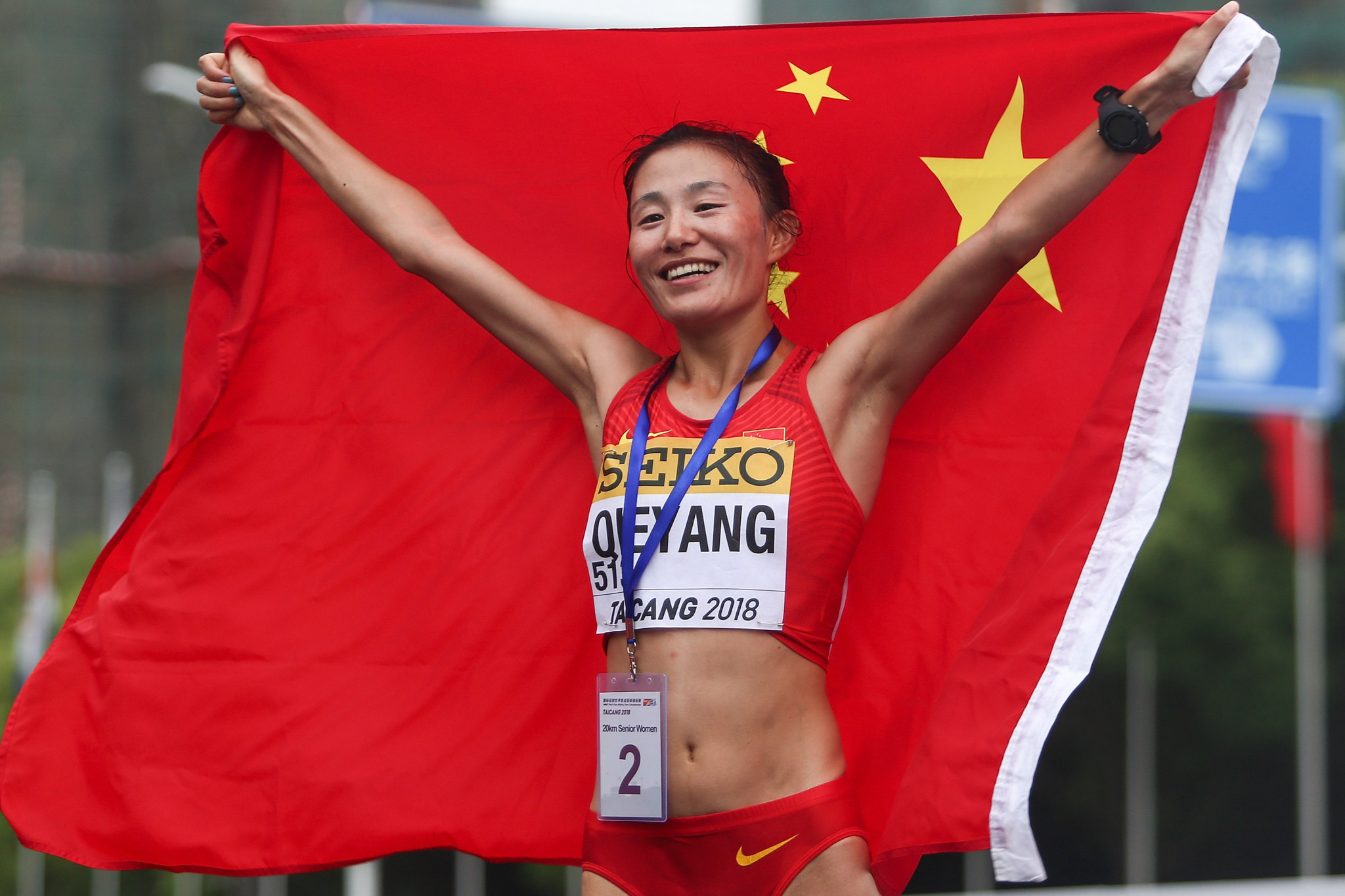 Gold at last for Qieyang as she completes Chinese double at IAAF Race Walking Challenge in Taicang