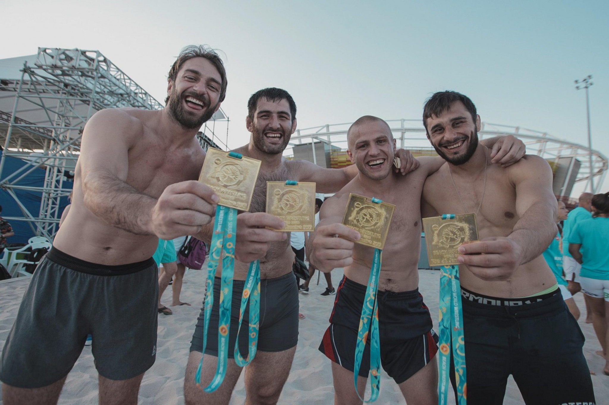 Georgia won all four gold medals on offer in the men's events ©UWW