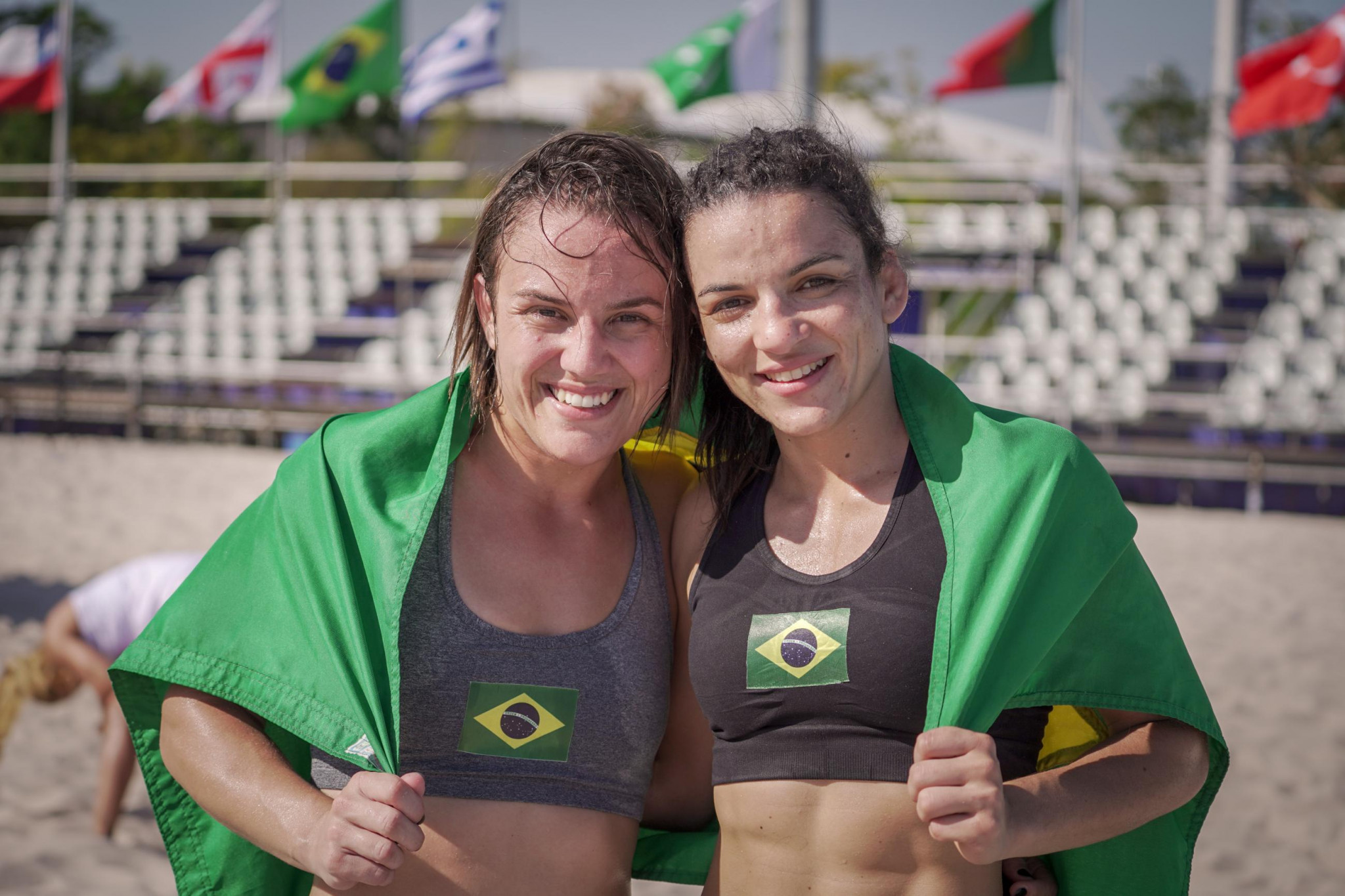 Hosts Brazil and Georgia earn clean sweeps at UWW Beach Wrestling World Series
