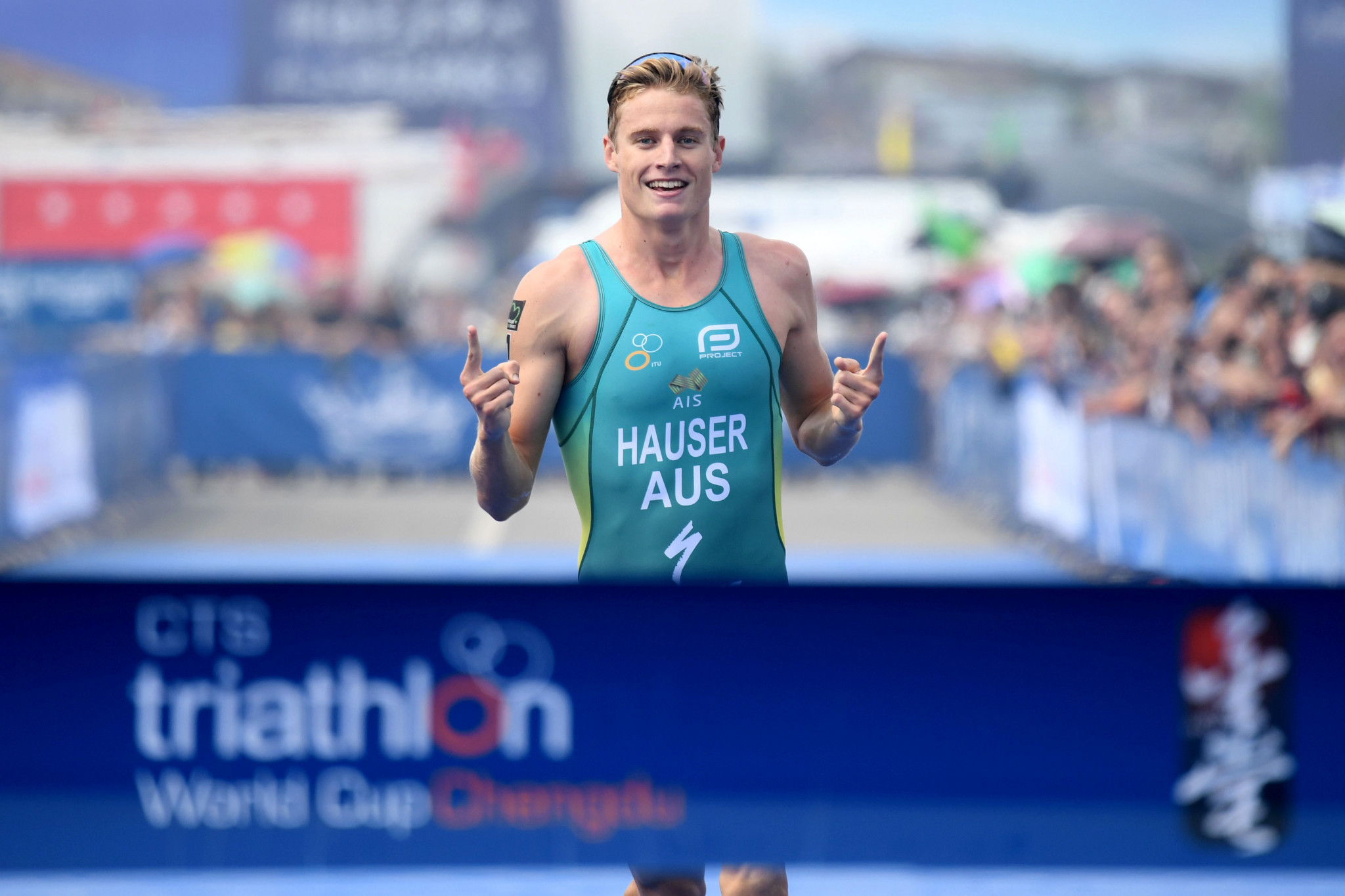 Hauser marks injury comeback with gold at ITU World Cup in Chengdu
