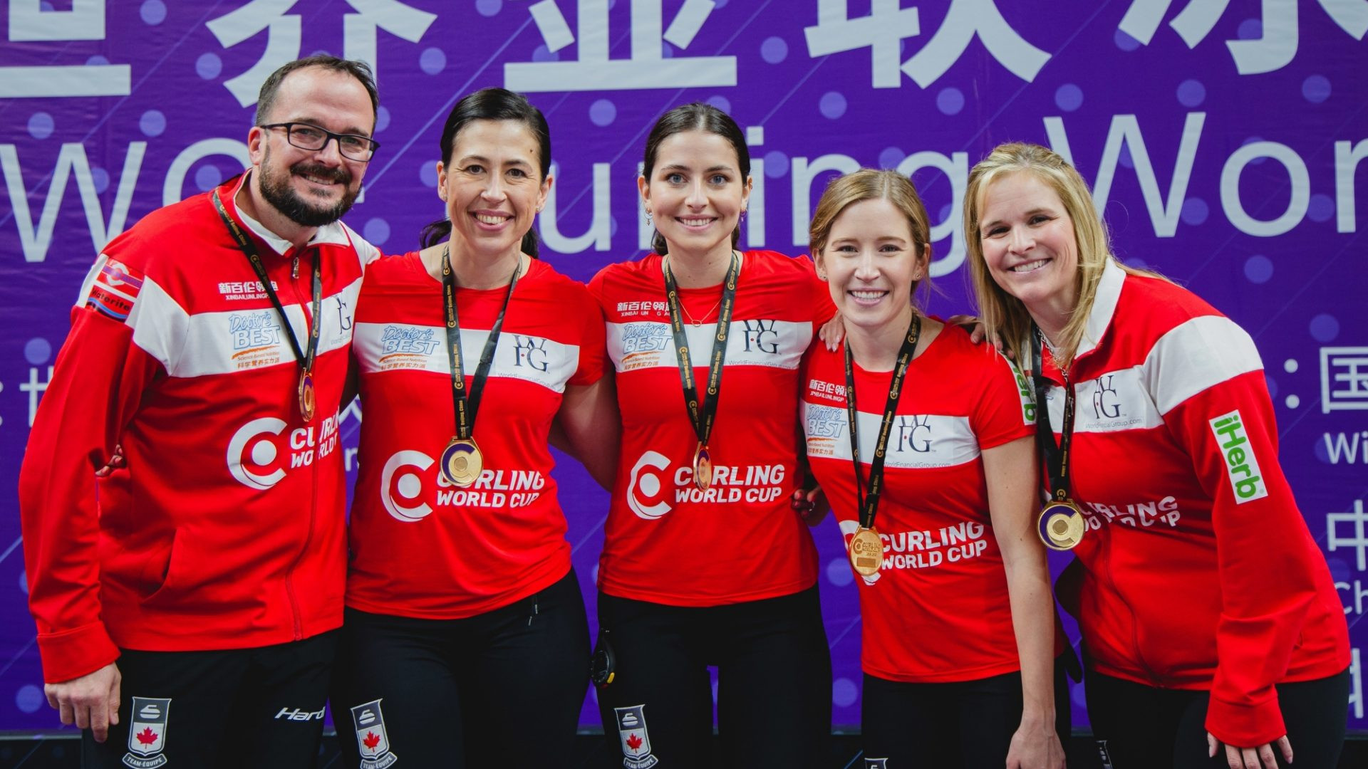 Canada, skipped by Jennifer Jones, beat world champions Switzerland in the women's final at the Curling World Cup Grand Final in Beijing ©World Curling