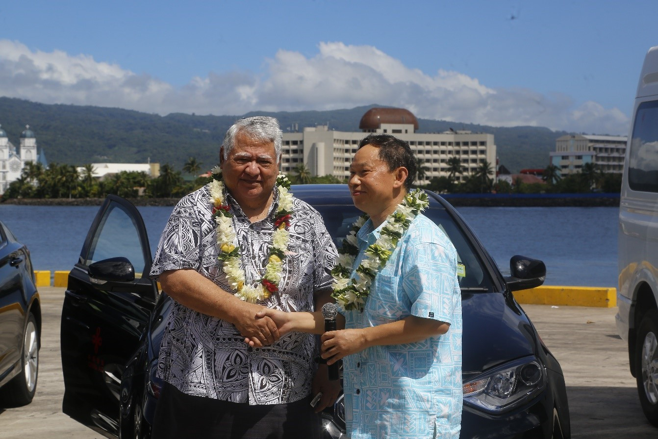China donates sports equipment and vehicles for Samoa 2019 Pacific Games