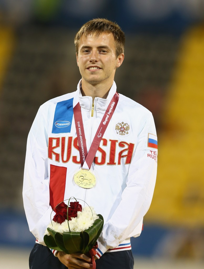Russia's Andrey Vdovin won the men's 100m T37 in a time of 11.46, taking 0.02 off his previous world record