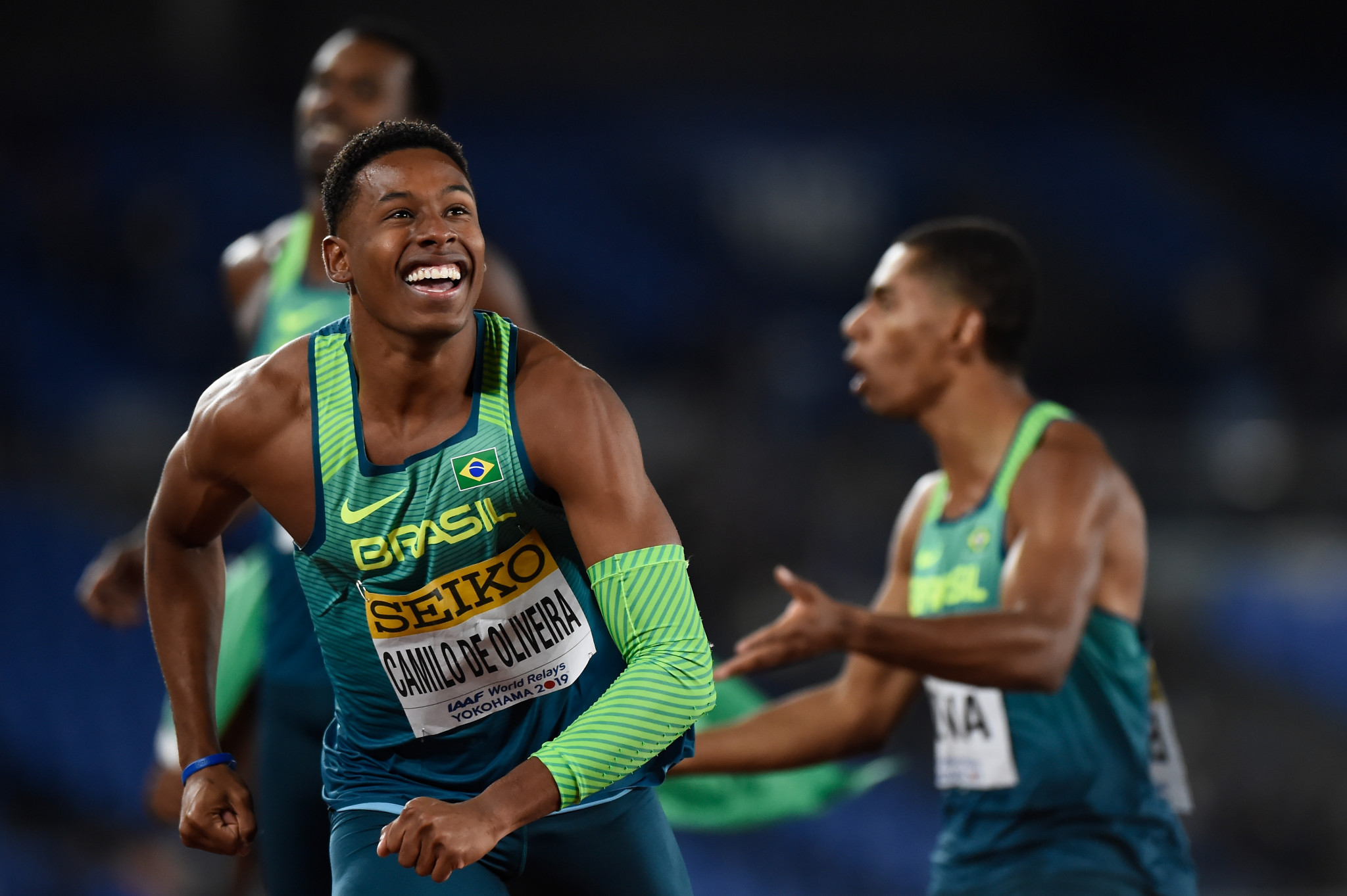 Brazil beat US and British world champions to earn shock men's 4x100m gold at IAAF World Relays