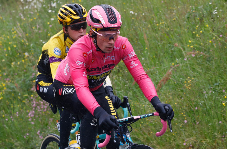 Slovenia's Primož Roglič retained the overall leader's pink jersey after today's second stage of the Giro d'Italia ©Getty Images