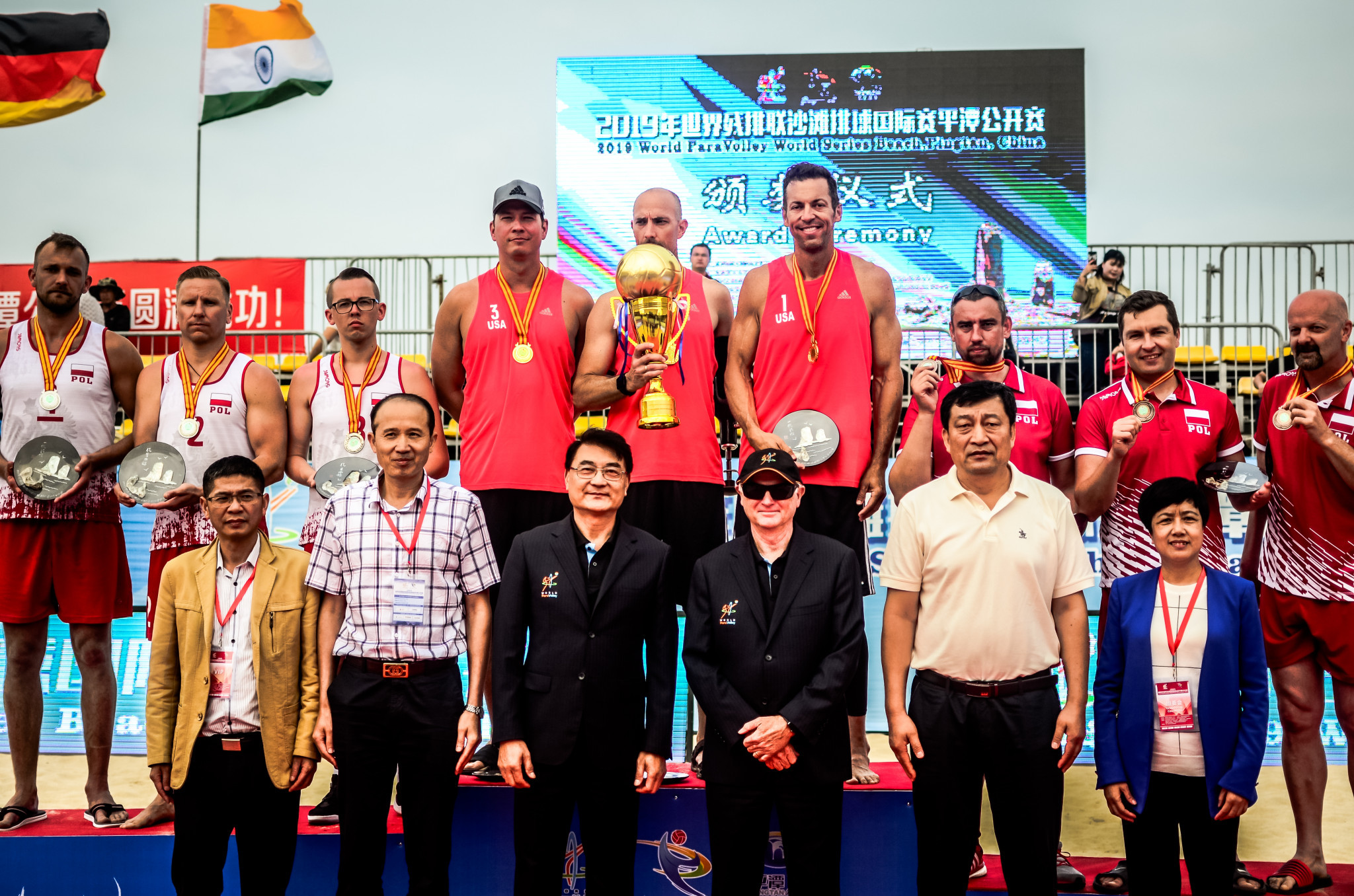 United States won the men's gold at the inaugural Beach ParaVolley Standing World Series event in Pingtan, China ©ParaVolley