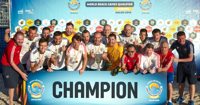 Russia edge past Spain to win ANOC World Beach Games European beach soccer qualifier