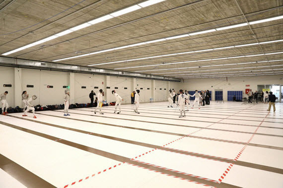 The FIE Sabre World Cup in Madrid took place at the Centro Deportivo Vallehermoso ©Facebook