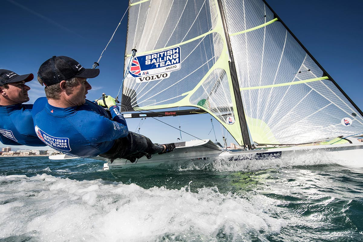 Dylan Fletcher and Stuart Bithell are considered the favourites for the 49er European Championships ©British Sailing