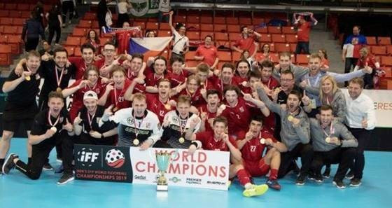 Czech Republic have been crowned winners of the Men's Under-19 World Floorball Championships after beating Sweden 8-2 in the final in Halifax in Canada ©IFF