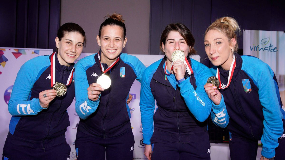 Italy conclude women's FIE Sabre World Cup in Tunis with team gold