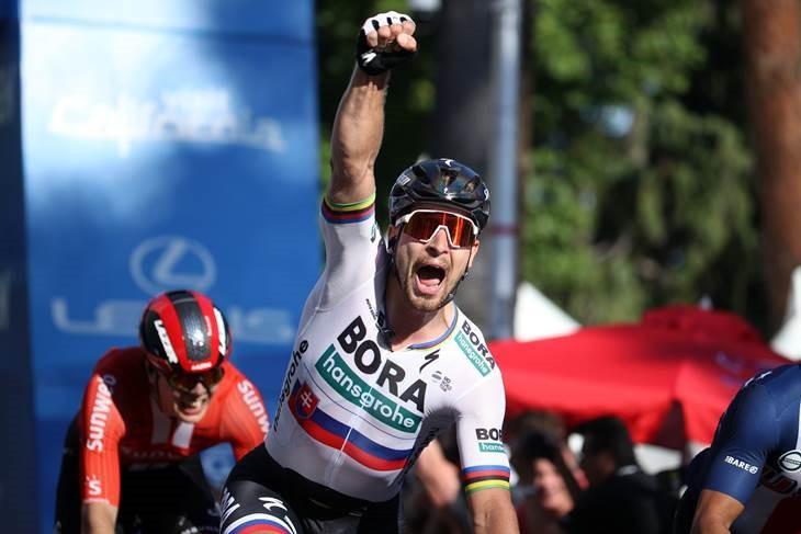 Three-time world champion Sagan wins opening stage of Tour of California