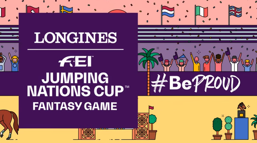 The FEI has announced the launch of a fantasy game for the Jumping Nations Cup ©FEI