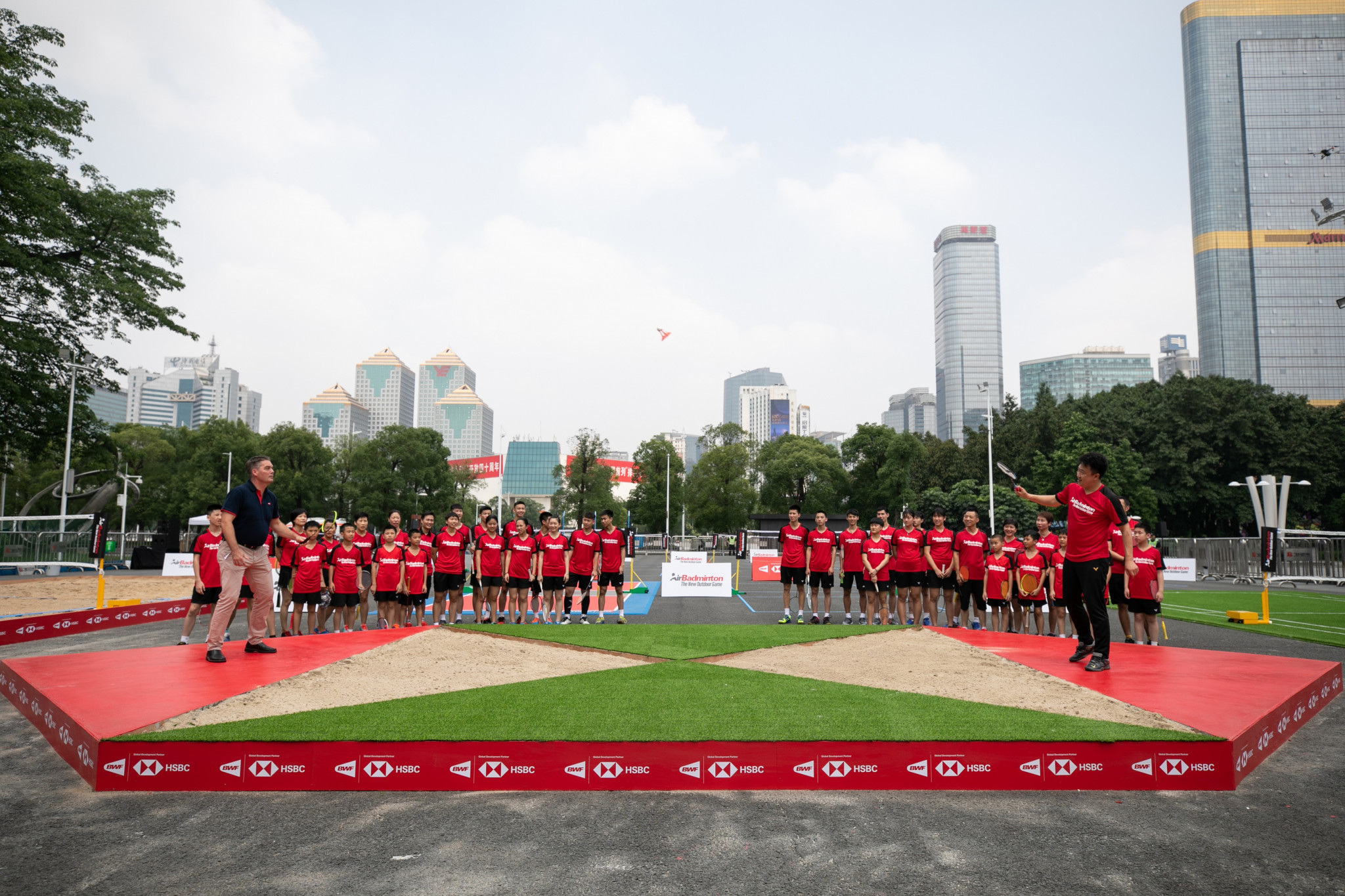 The Badminton World Federation launched AirBadminton in Guangzhou ©BWF