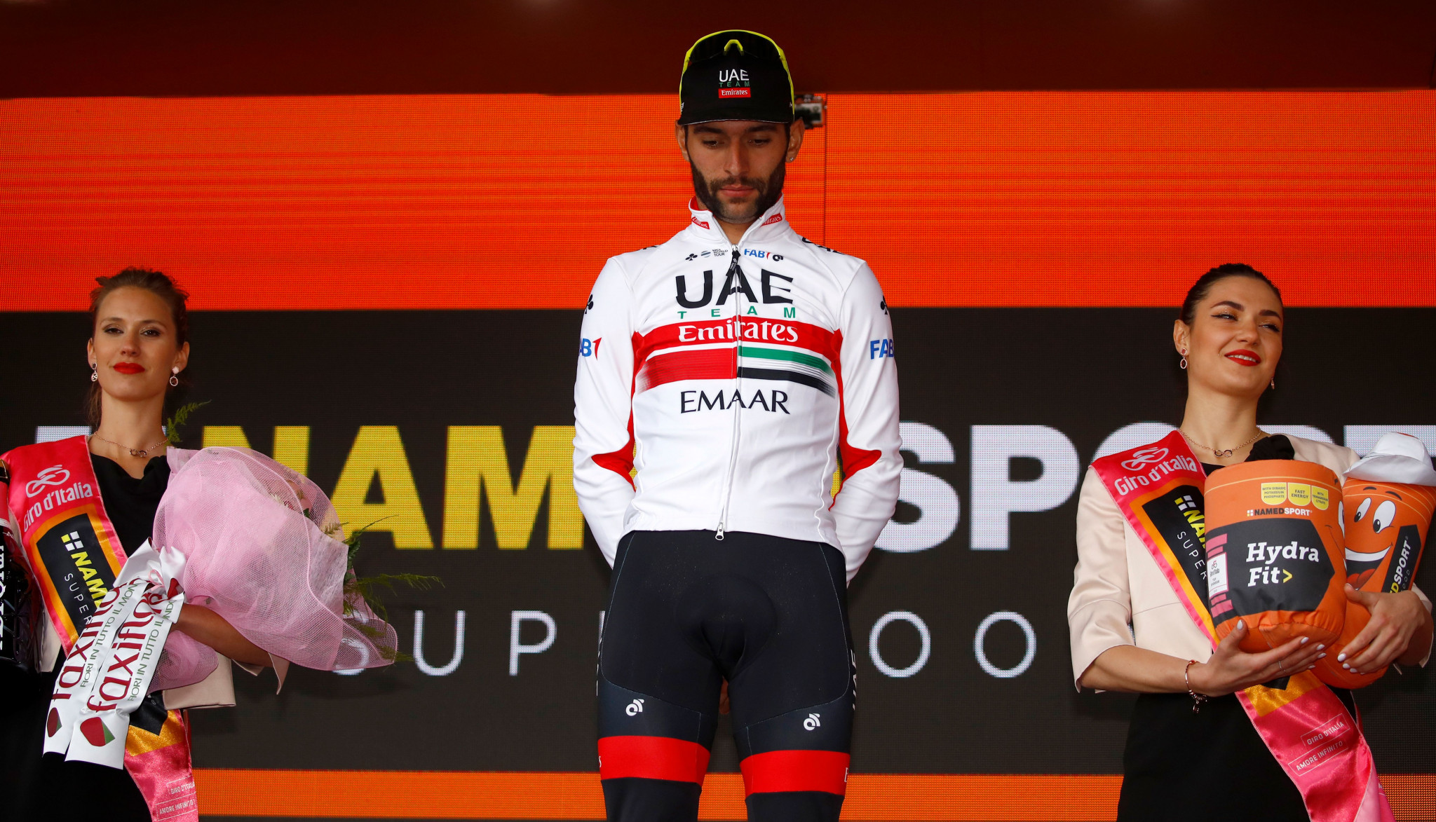 Colombia's Fernando Gaviria was awarded victory on stage three of the Giro d'Italia after home rider Elia Viviani was relegated by the jury ©Getty Images