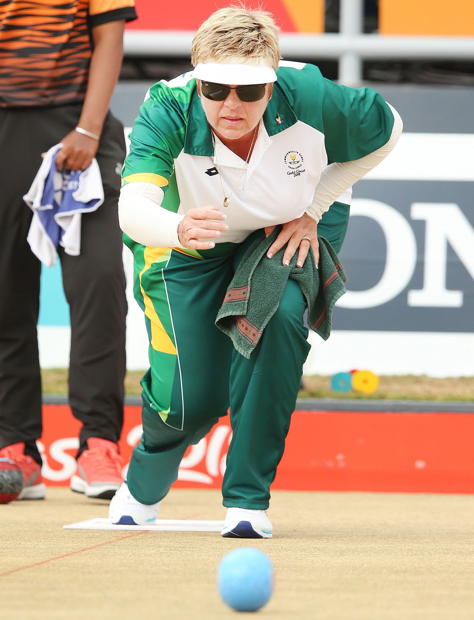 South Africa's Colleen Piketh added a further two wins to her tally in the women's singles as action continued today at the World Bowls Atlantic Championships in Wales' capital Cardiff ©Getty Images