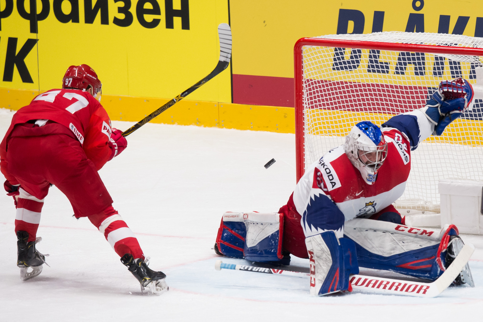 Russia made it three wins out of three in Group B with a 3-0 victory over Czech Republic ©Getty Images